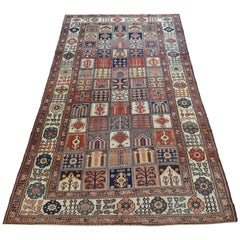 Persian Bakhtiari Garden Carpet by Olad circa 1900 in Pure Wool and Organic Dyes
