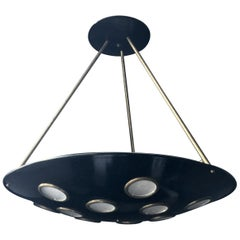 Large Mid-20th Century Italian Saucer Chandelier