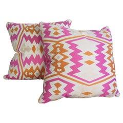 Pair of Geometric Down Pillows