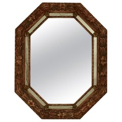 Carved and Painted Octagonal Mirror