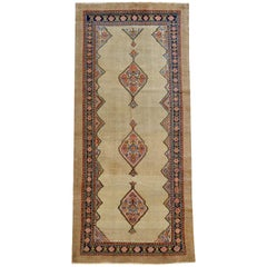Antique Sereband Persian Carpet in Handspun Camel Wool, circa 1880