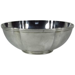 20th Century Tiffany & Co. Sterling Silver Lobed Bowl