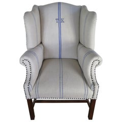 French Antique Winged Chair