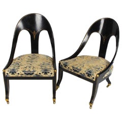 Pair of English Classical Spoon Back Chairs