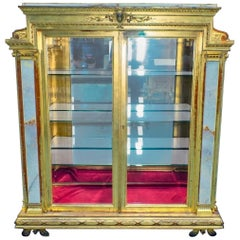 Pottier & Stymus Onyx and Giltwood Vitrine