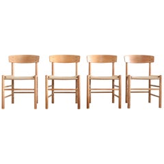 Børge Mogensen J39 Vintage Dining Oak Chair for FDB Mobler Set of 4
