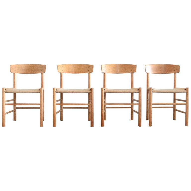 Børge Mogensen J39 Vintage Dining Oak Chair for FDB Mobler Set of 4 1