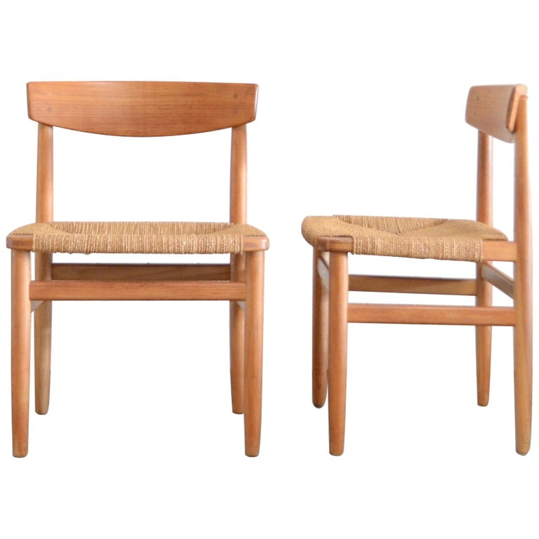Børge Mogensen Model 537 Oresund Pair of Dining Oak Chairs for Karl Andersson 1