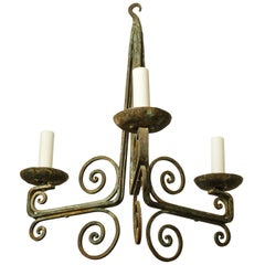 Simple Classic Painted Iron Chandelier