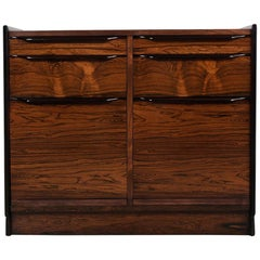 Danish Modern Rosewood Chest of Drawers / Cabinet