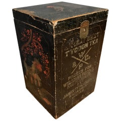 Wellman Peck & Co. Large Lacquer Decorated Japanese Tea Box, Early 1900s