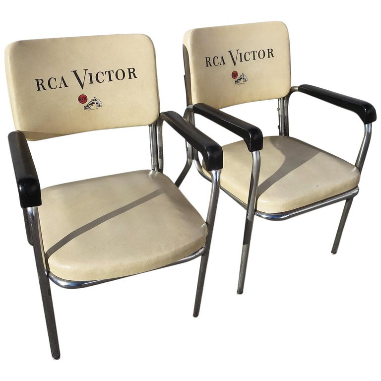 RCA Victor Tubular Chrome Chairs For Sale