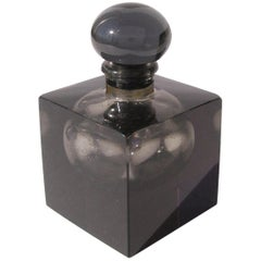 Art Deco Black Glass Perfume Bottle