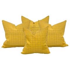 Set of Four Japanese Silk Kimono Pillows