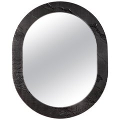 Shale Mirror by Simon Johns in Black