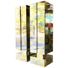 Pair of TOTEM Cityscape Cabinets by Paul Evans 1970s, Signed