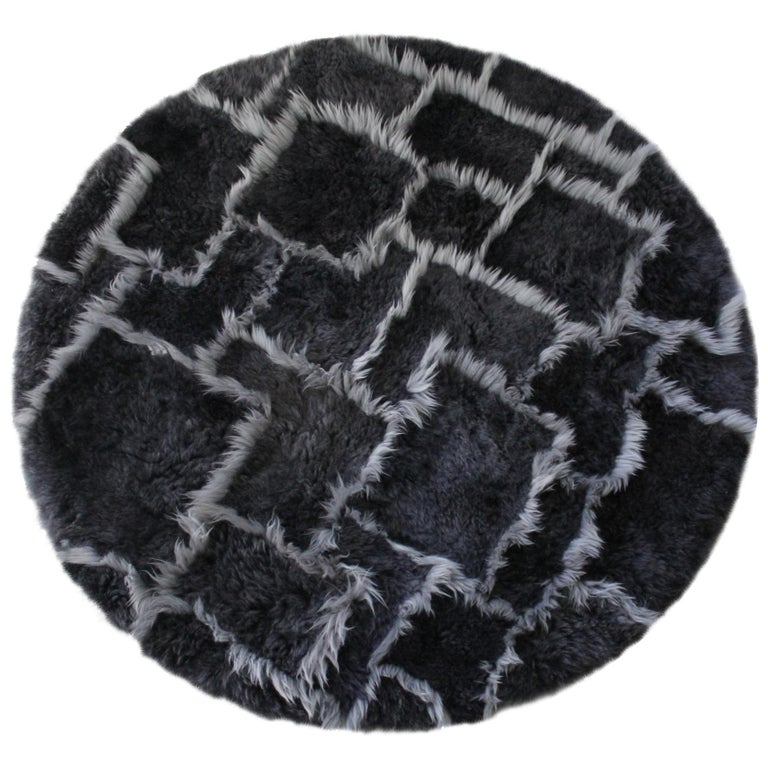 Patchwork Sheepskin Rug