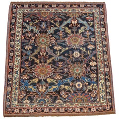 Antique Persian Bakhtiari Carpet in Pure Handspun Wool, circa 1880