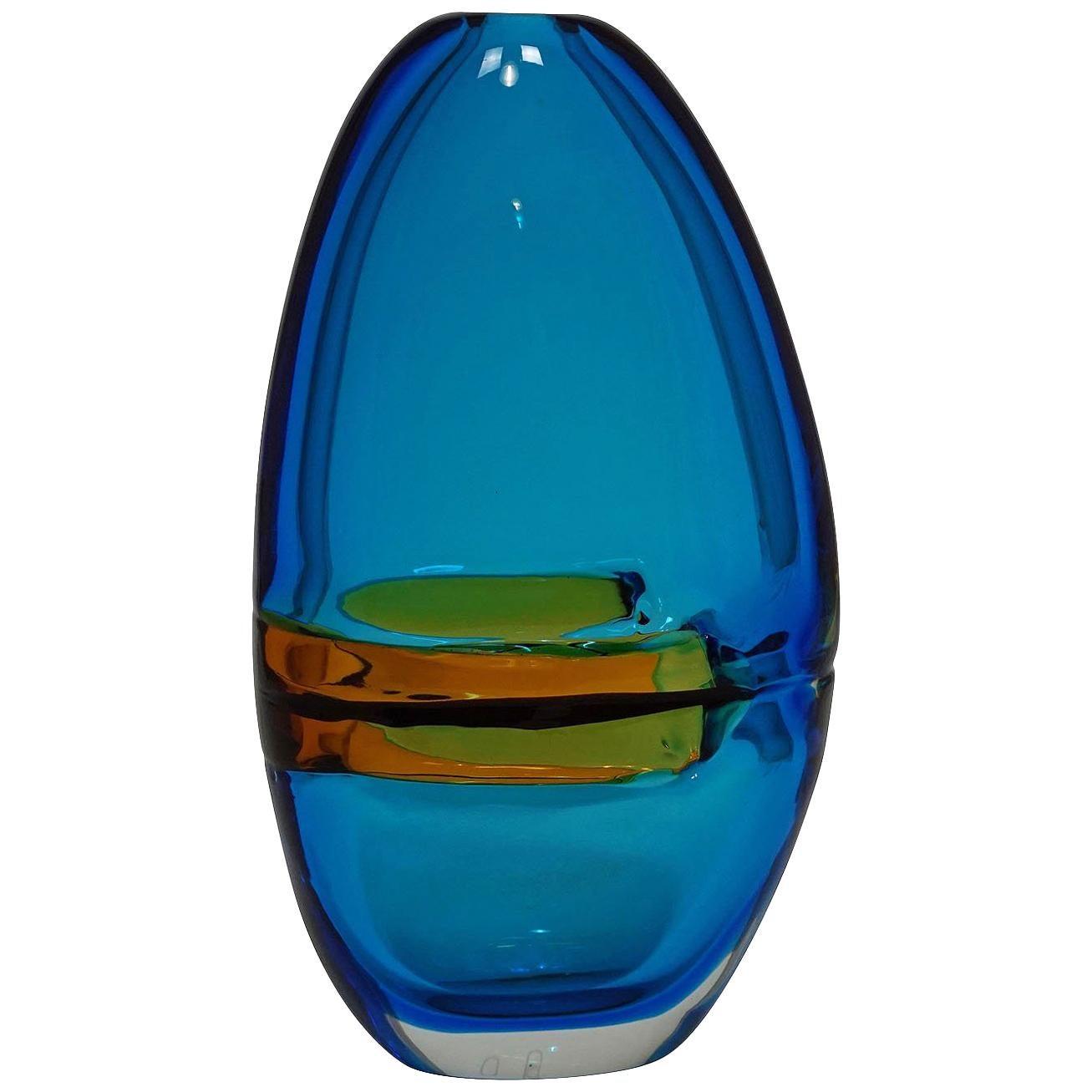"""Alfredo Barbini Large Vase """"Doppio Incalmo"""", Venice, circa 1965"""