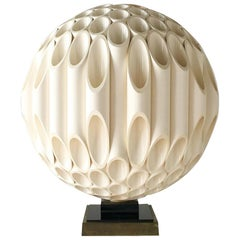 Rare Spherical Rougier Designed Table Lamp Late 1970s, Stamped
