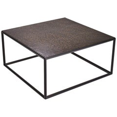 Cubist Bronze and Brass Occasional Square Table, by P. Tendercool