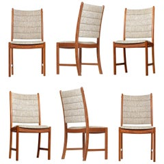 1960s Johannes Andersen Teak Dining Chairs 7171 for Uldum Møbelfabrik Set of Six