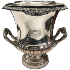 Regency Sheffield Plate English Wine Cooler, circa 1830