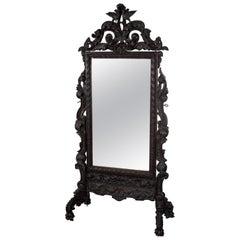 Fine Baroque Style Psyche Mirror, Budapest, 1840s