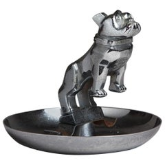 Nickel-Plated Cast Metal Mack Truck Bulldog