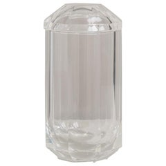Tall Octagonal Shaped Lucite Ice Bucket, 1970s