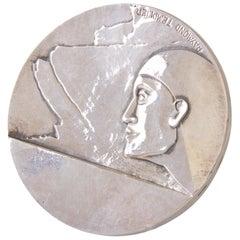 Art Deco Silvered Bronze Medal Signed Raymond Templier