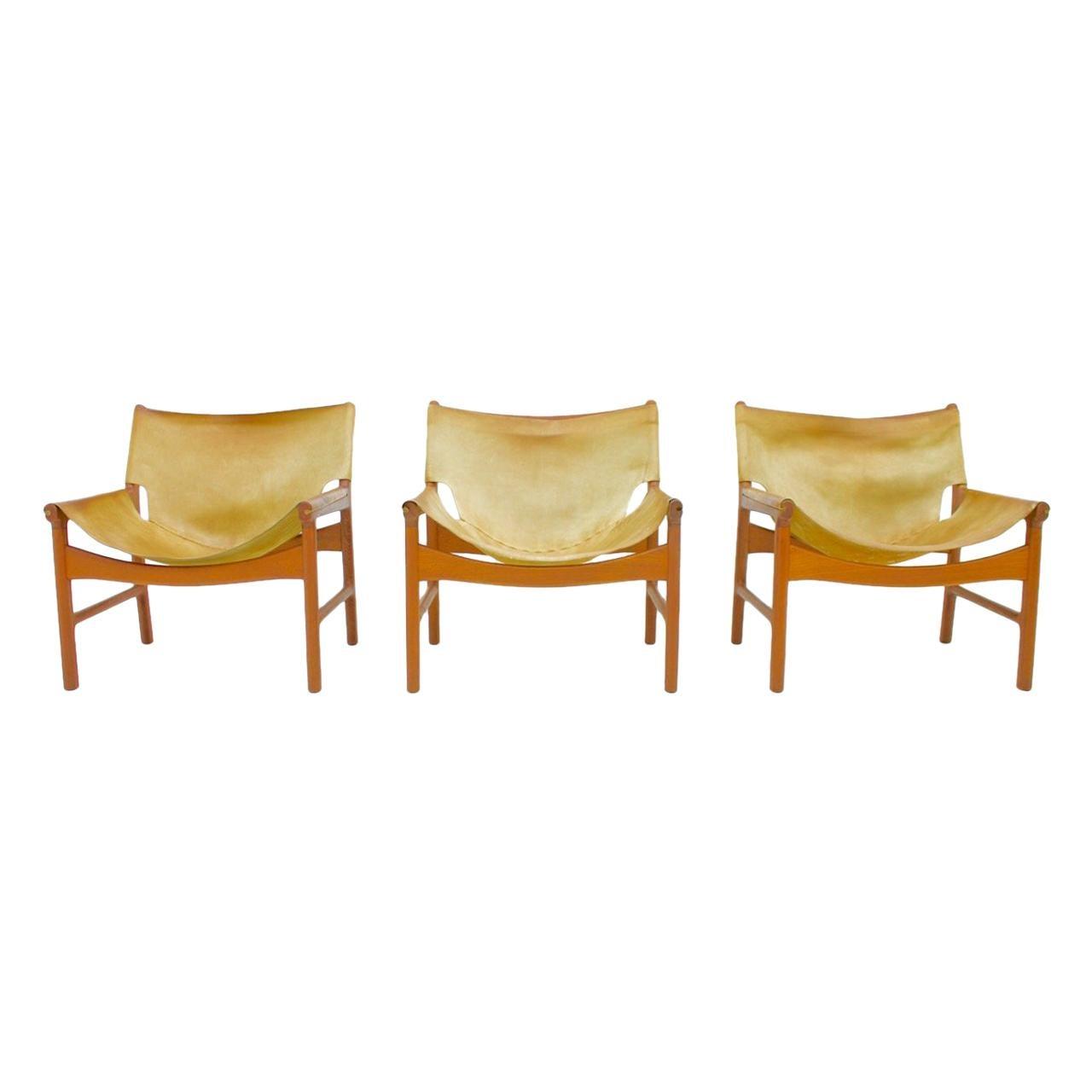 Illum Wikkelso Easy Chair Model 103 in Teak & Leather by Mikael Laursen Denmark