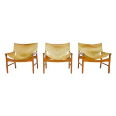 Illum Wikkelso Easy Chair Model 103 in Oak and Leather by Mikael Laursen Denmark