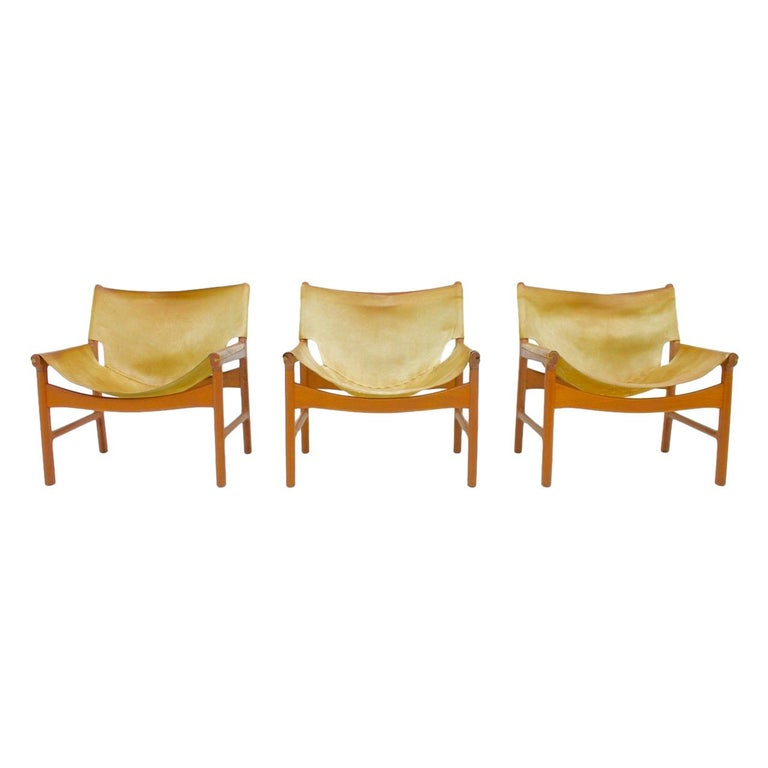Illum Wikkelso Easy Chair Model 103 in Oak and Leather by Mikael Laursen Denmark 1