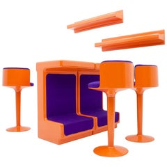 Fiberglass Bar Set by Wolfgang Feierbach, Germany, 1974