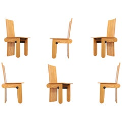 Carlo Scarpa Dining Chairs for Gavina, 1974, Set of Six