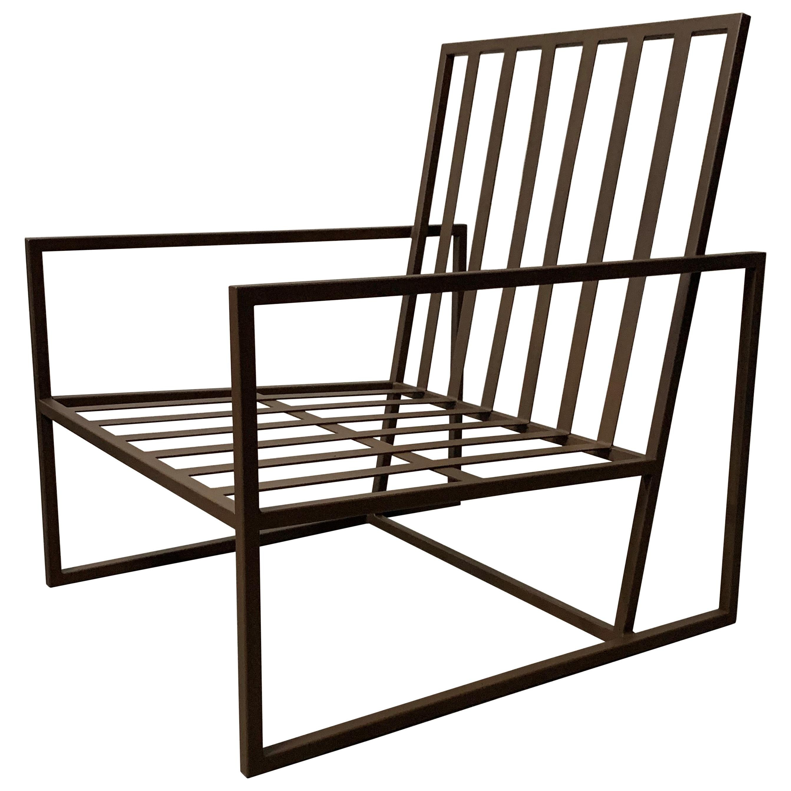 New Outdoor Armchair in Wrought Iron