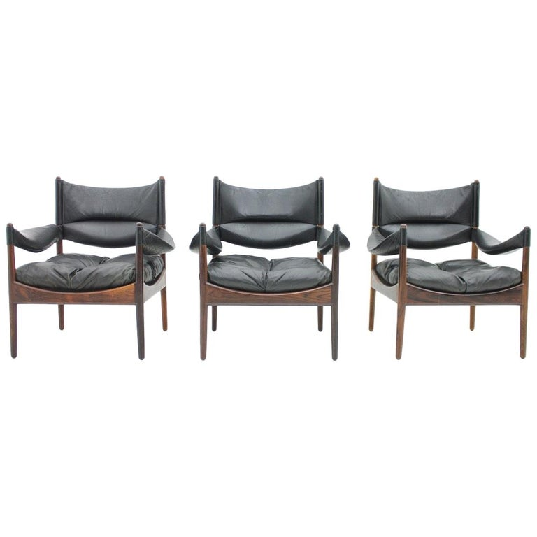 High Back Lounge Chairs by Kristian Solmer Vedel Made by Søren Willadsen, 1963 For Sale