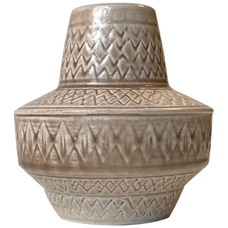 Scandinavian Modern Pottery Vase by Gunnar Nylund for Rörstrand, 1960s