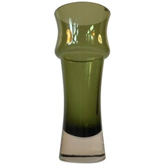 Green Midcentury Glass Vase by Tamara Aladin for Riihimaen Lasi Oy, 1970s