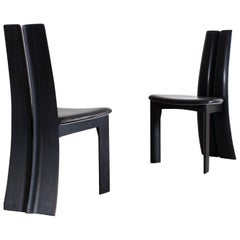 Ebonized Oak Dining Chair by Atelier Van Den Berghe-Pauvers Ghent