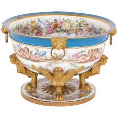 19th Century Sèvres style porcelain centrepiece
