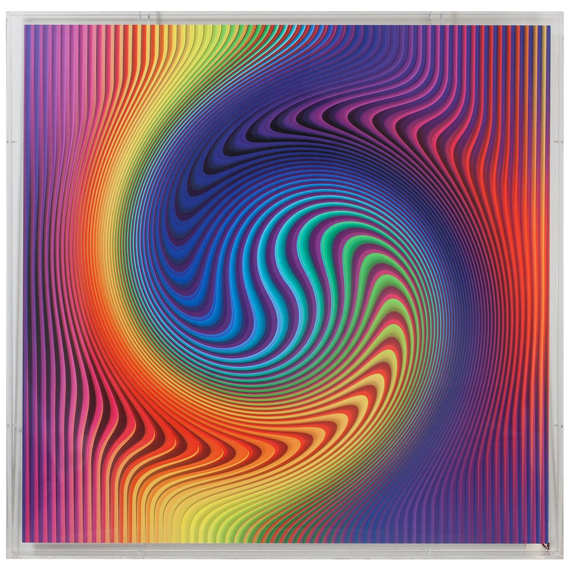 Yanel Sánchez 2015 Optical Art, Digital Print on Aluminum