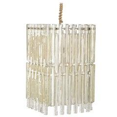 1970s Glass Pendant Light