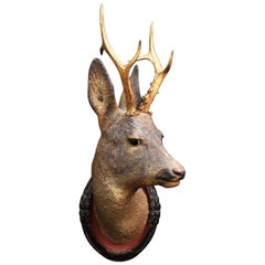 Life-Size Terracotta Deer's Head, circa 1880
