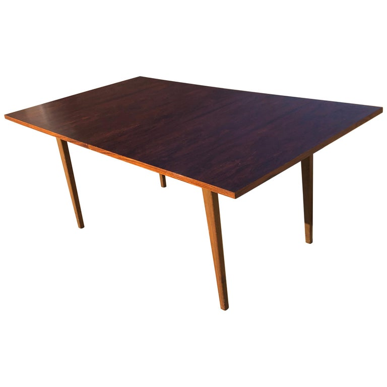 Dunbar Rosewood Dining Table, Conference Table Expandable, Stunning For Sale