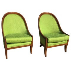 Dunbar Curved-Back Lounge Chairs