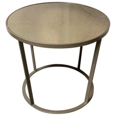 New Coffee or Side Table in Champagne Color with Smoked Mirrored Glass Top