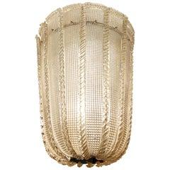 Colossal Murano Glass Pendant Attributed to Venini
