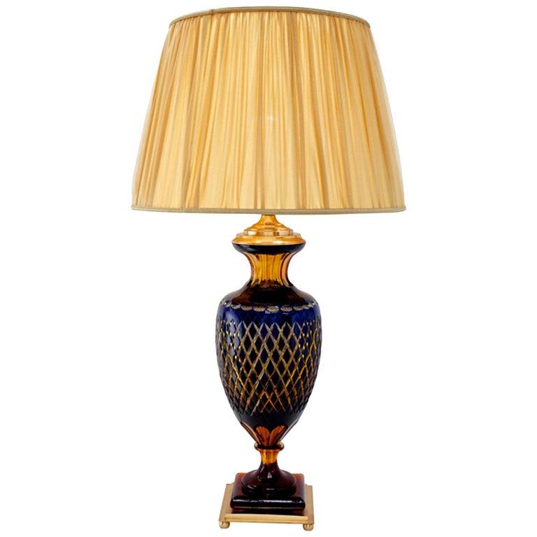 Ugo Poggi Firenze Handcrafted Crystal Table Lamp Arcetri With
